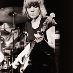 Tina Weymouth playing bass