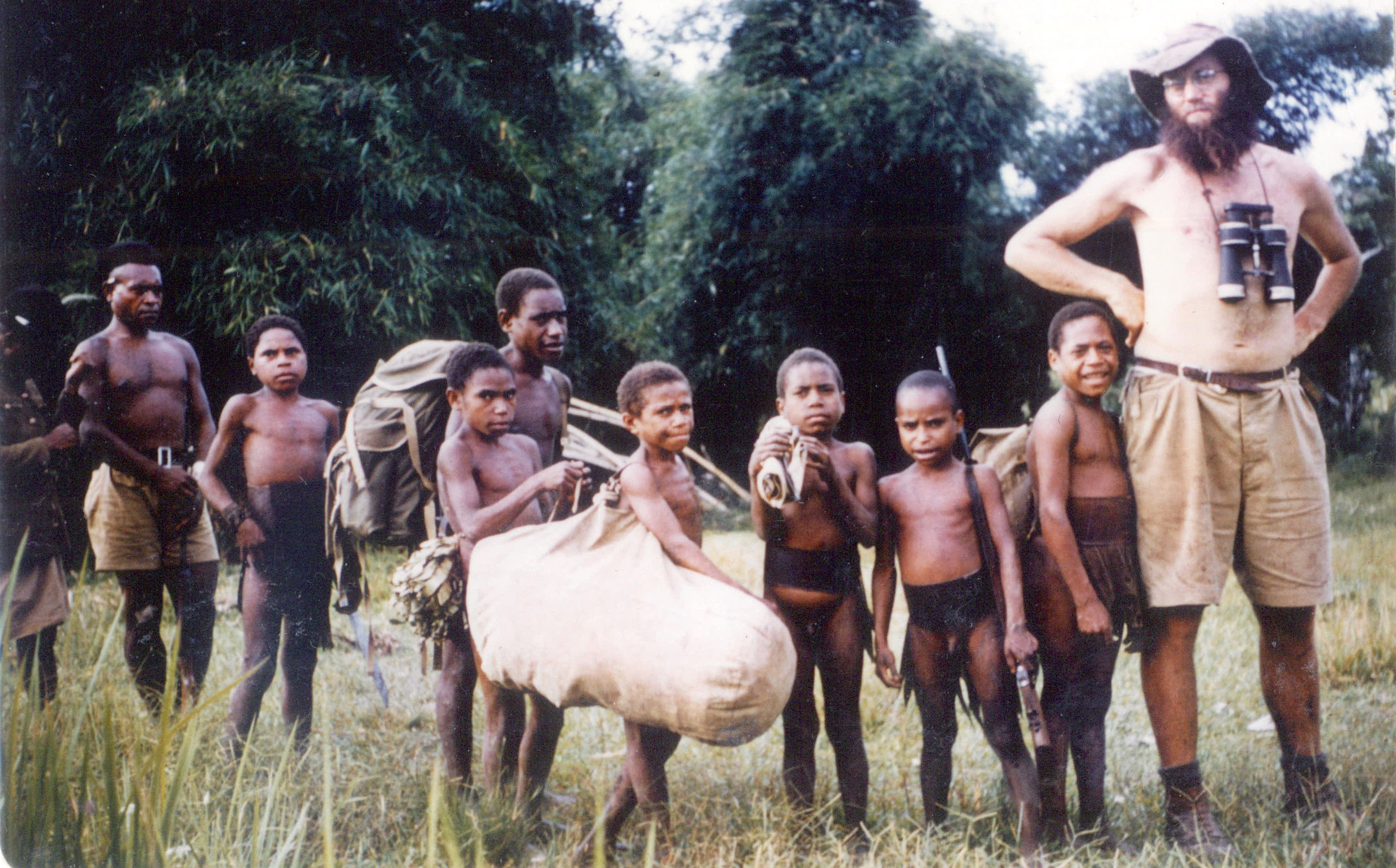 Ralph Bulmer in New Guinea, 1955.