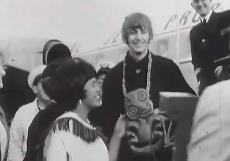Ringo Starr arrives in Wellington, 1964.