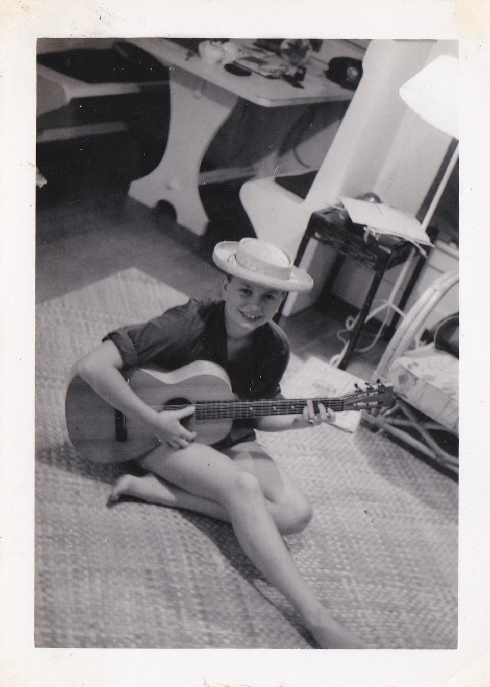 sue with guitar