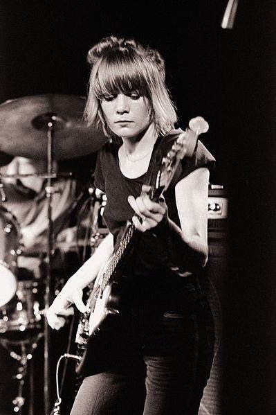 Tina Weymouth playing bass