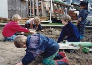 kids in the sandpit