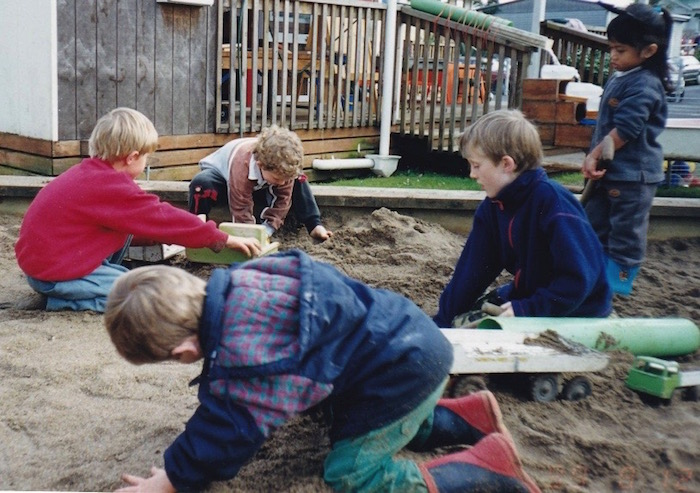 kids in the sandpit