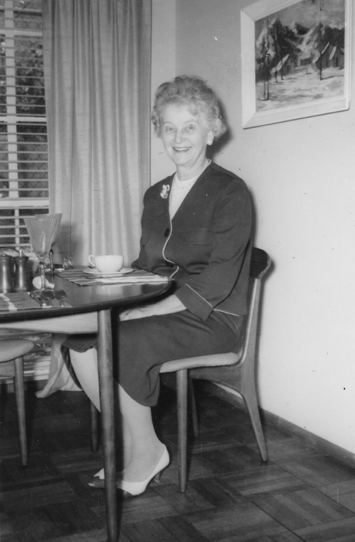 My elegant Mormor, Adeline Nordendahl Hirsh. She probably made the suit she is wearing.